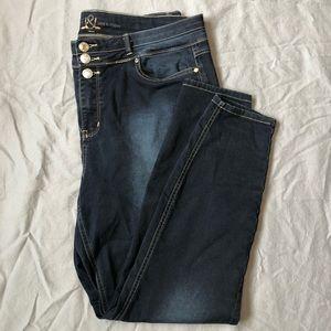 Love & Legend dark wash skinny stretch jeans